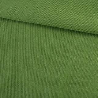Микровельвет зеленый однотонный не стрейч, ш.145 оптом