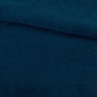 Микровельвет синий темный однотонный не стрейч, ш.145 оптом