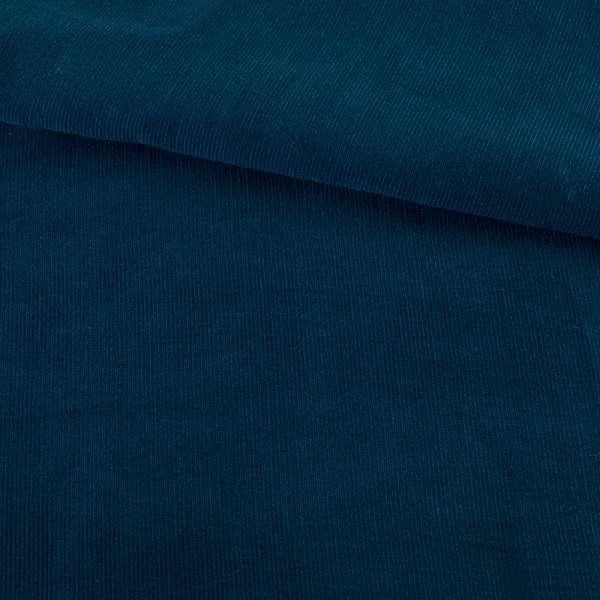 Микровельвет синий темный не стрейч, ш.145 оптом