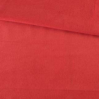 Микровельвет красный гренадин однотонный не стрейч, ш.145 оптом