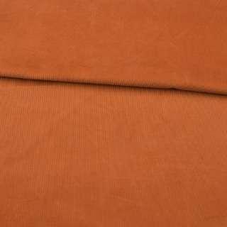 Микровельвет оранжевый темный не стрейч ш.145 оптом