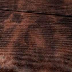Коттон стрейч вельветовый рубчик коричневый оптом