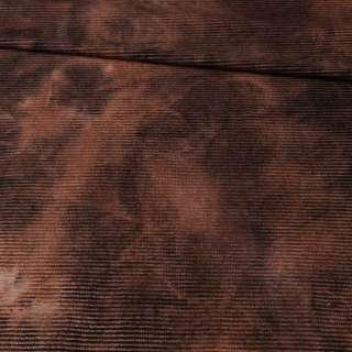 Коттон стрейч вельветовий рубчик коричневий оптом