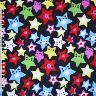 Мікровельвет синій темний зірки ш.110 оптом