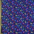 Микровельвет синий ультра веселые лапки ш.115 оптом