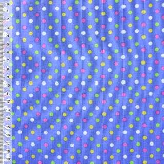 М/вельвет голубой в разноцвет. горох ш.115 оптом