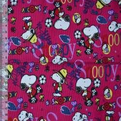 Микровельвет малиновый Snoopy ш.110 оптом