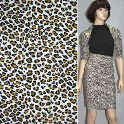 Микровельвет белый с черным леопард ш.110 оптом