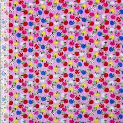 Микровельвет розовый яблоки ш.115 оптом