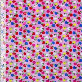 """М/вельвет розовый """"яблоки"""" ш.115 оптом"""