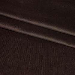 Микровельвет стрейч темно-коричневый ш.150 оптом