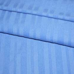 Микровельвет стрейч голубой в полоску оптом