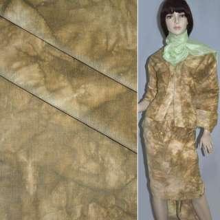 Микровельвет стрейч вываренный коричнево-бежевый ш.145 оптом