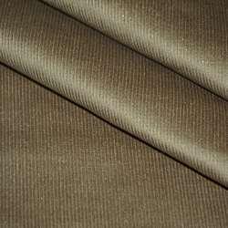Микровельвет стрейч коричневый светлый с серебряными блестками ш.140 оптом