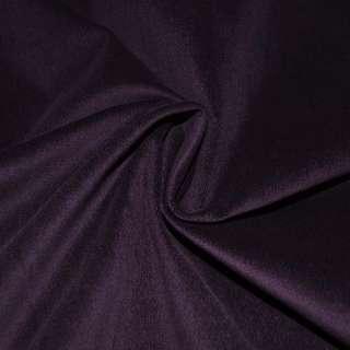Велюр стрейч фиолетовый темный однотонный, ш.145 оптом