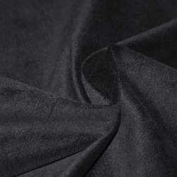 Велюр стрейч хлопковый черный ш.150