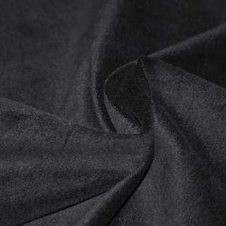 Велюр стрейч хлопковый черный ш.150 оптом