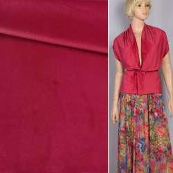 Велюр костюмный красный темный ш.150 оптом