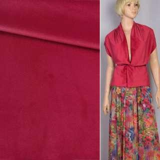 Велюр костюмний червоний темний ш.150 оптом