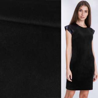 Велюр костюмный черный ш.150 оптом