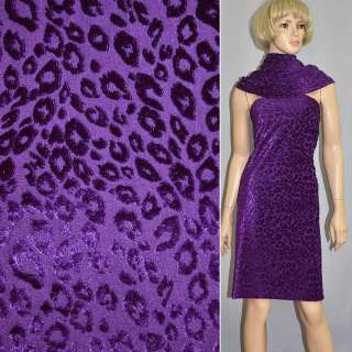 Бархат капли на трикотаже  фиолетовый ш.165 оптом