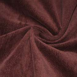 Велюр хлопковый коричнево-красный ш.106