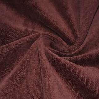Велюр коричнево-красный однотонный, ш. 106 оптом