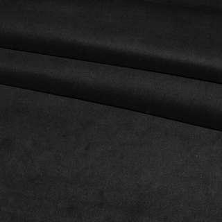 Велюр стрейч черный однотонный, ш. 110 оптом