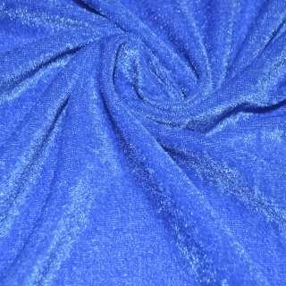 Стрейч велюр темно голубой ш.150 оптом