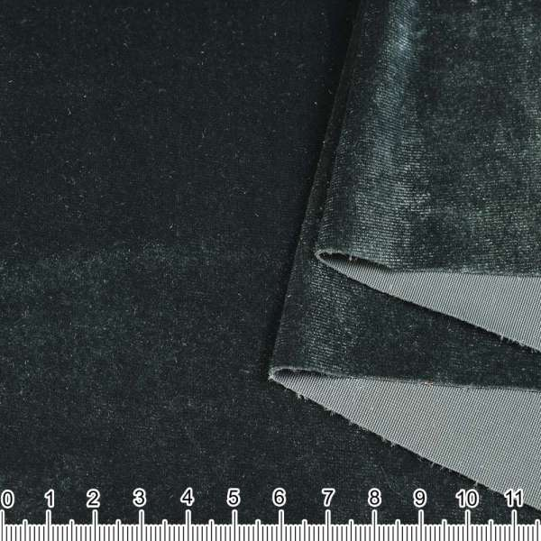 Велюр стрейч серый с зеленоватым отливом ш.160 оптом