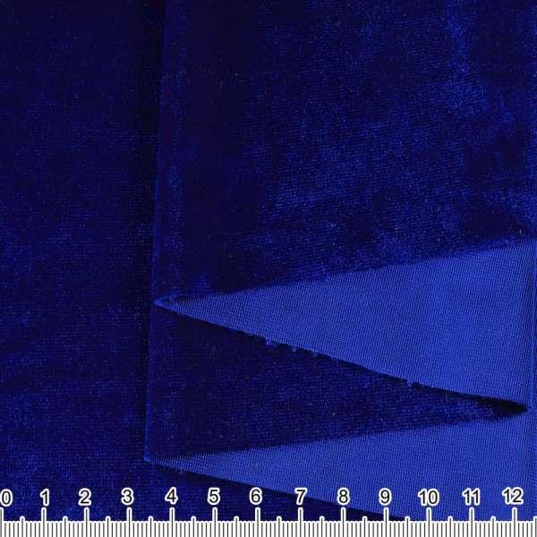 Велюр стрейч синий (ультрамарин темный), ш.165 оптом
