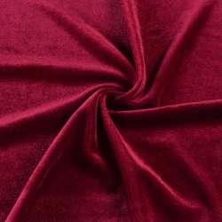 Велюр стрейч красный темный, ш.160 оптом