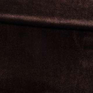 Велюр стрейч коричневый темный, ш.165 оптом