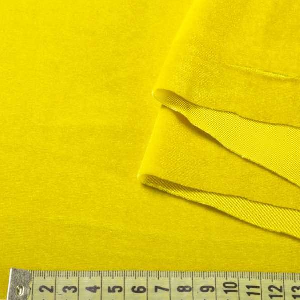 Велюр стрейч желтый, ш.160 оптом