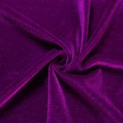 Велюр стрейч фиолетовый светлый, ш.168 оптом