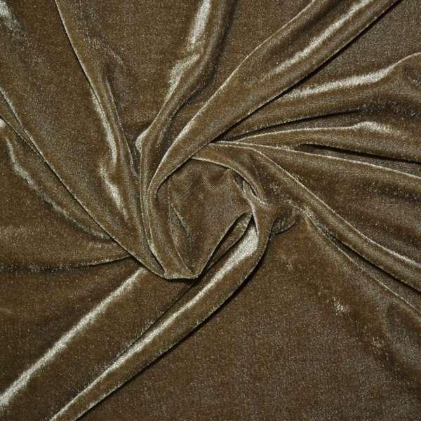 Велюр стрейч светло-коричневый ш.165 оптом