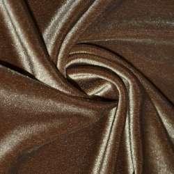 Велюр стрейч светло-коричневый ш.165