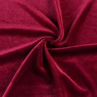 Велюр стрейч * червоний темний, ш.165 оптом