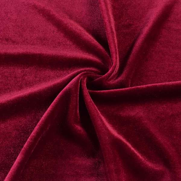 Велюр стрейч* красный темный, ш.165 оптом