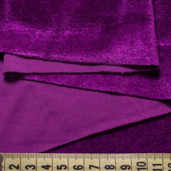 Велюр стрейч* фиолетовый светлый, ш.168 оптом