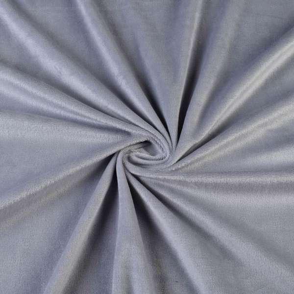 Велюр стрейч серый ш.160 оптом