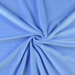 Велюр стрейч голубой темный ш.165