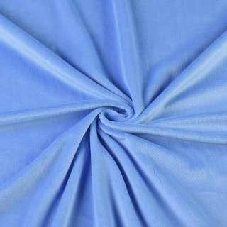 Велюр стрейч блакитний темний ш.165 оптом