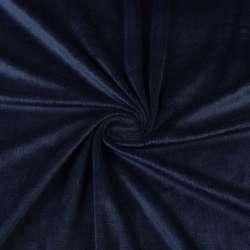 Велюр стрейч синий темный ш.170 оптом