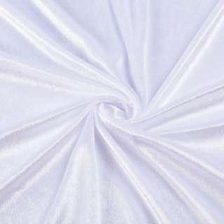 Велюр стрейч белый, ш.170 оптом