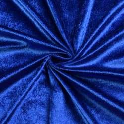 Велюр стрейч синий, ш.170 оптом