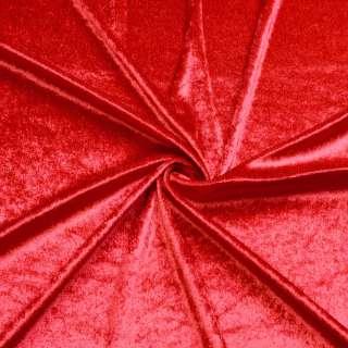 Велюр стрейч красный, ш.170 оптом