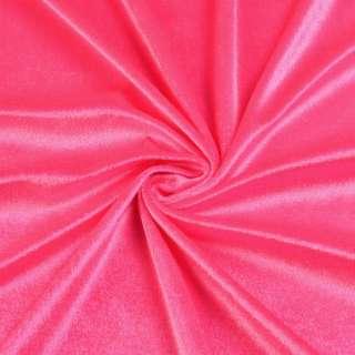 Велюр стрейч розовый яркий, ш.170 оптом