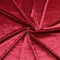 Велюр стрейч красный темный, ш.170 оптом