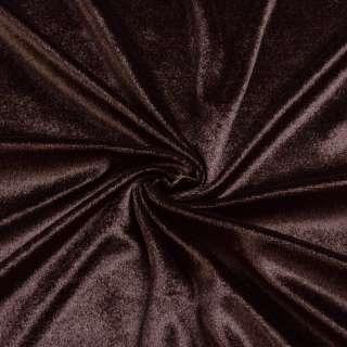 Велюр стрейч коричневый, ш.165 оптом